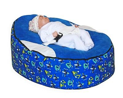 Baby bean bag with filling & 2 removeable covers