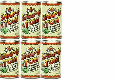 6 Cans of Snap-E-Tom Tomato and Chili Cocktail, 6 ounce -Bloody or Virgin Mary