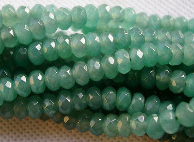 """5X8mm Natural Faceted Emerald Abacus Loose Beads Gemstone 15"""" AAA+R"""
