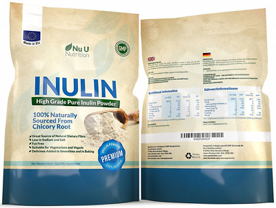 Inulin High Grade Prebiotic Fibre Powder 1kg made in EU from all Natural Chicory