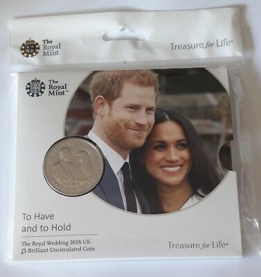2018 Royal Wedding Harry and Meghan £5 Five Pound Coin Royal Mint Coin Pack