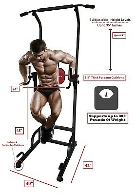 X Factor Multi Function Pull Up Dip Station VKR Power Tower Suction Cups Gym