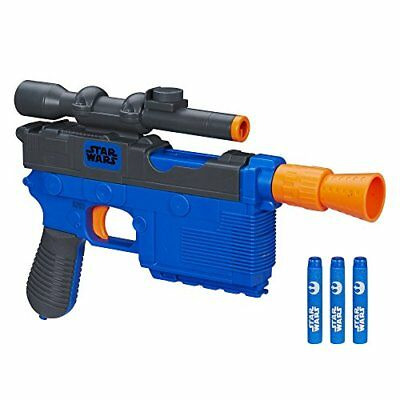 Star Wars Nerf Han Solo Episode VII Blaster Fires Darts Up To 65 Feet 20 Meters