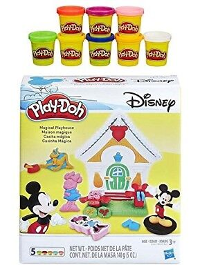 Play-Doh Disney Mickey Mouse Magical Playhouse + Play-Doh Rainbow Starter Pack