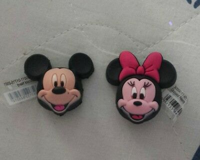 Lot of 2 Crocs charms. 3D Mickey and Minnie. Good for Crocs shoes or bracelet.