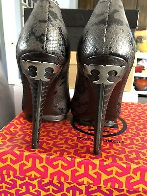 d00ad48d0d83f TORY BURCH JUDE-AMAZON Snake Print Charcoal Platform Stiletto Pumps ...