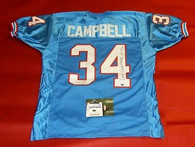7098ef81e EARL CAMPBELL HOF 91 Autographed Houston Oilers Jersey (PSA DNA ...