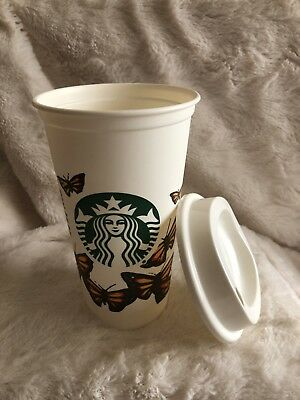 Starbucks Monarch Butterflies Reusable Recyclable Grande Coffee Cup