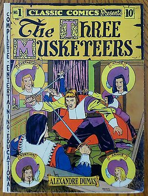 Classics Illustrated Comics - #1 Three Musketeers ORIGINAL!