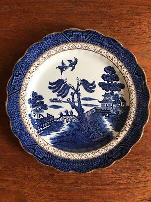Vintage Rare Booths Real Old Willow Plate Marked A 8025