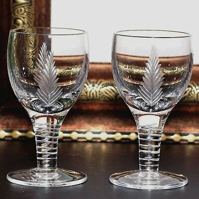 2 x  Stuart Crystal WOODCHESTER Cordial After Dinner Liqueur Glasses