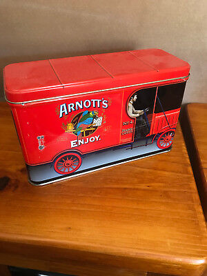 Arnotts Red Truck Collectors Biscuit Tin