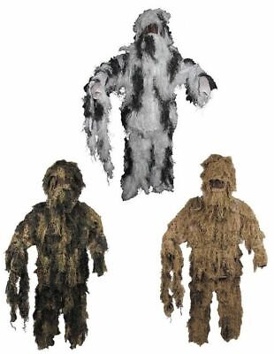 Camouflage Battle Dress Ghillie Suit Hunting Paintball Carnival Fancy Bw