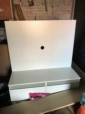IKEA Benno TV Bench Stand Unit with Back Panel