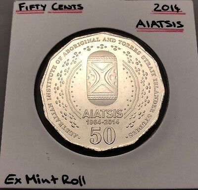 2014 AIATSIS 50c Fifty Cent Coin UNC