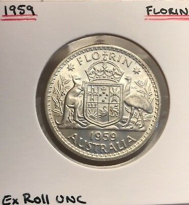 1959 Florin Ex Roll UNC Lustrous Attractive Coin