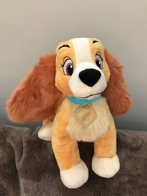 "BNWT disney store large 11""  lady from lady and the tramp soft toy"