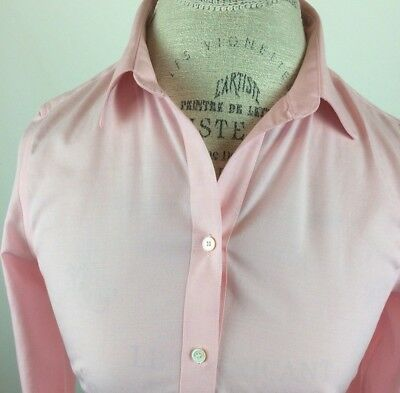 7b7b03f8ed Talbots Womens Blouse Petite Size 2 Pink Button Front Long Sleeve Career  Casual