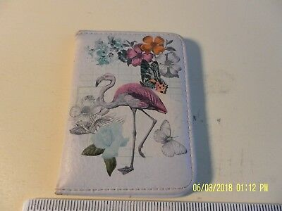 Paperchase travel card wallet holder floral insect print design paperchase travel id card holder wallet bi fold lilac flamingo reheart Images