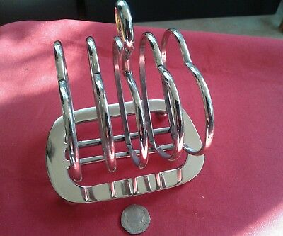 Great vintage silver plate heart shaped toast rack
