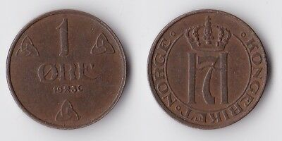 1936 Norway 1 ore coin