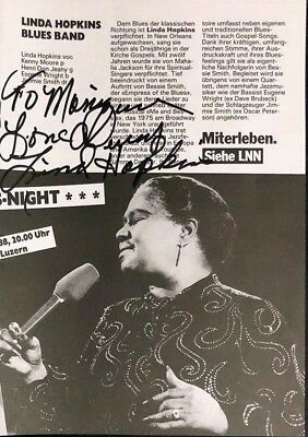 Linda Hopkins Blues Band Sängerin Musik Original Autogramm Autograph (O-1403+