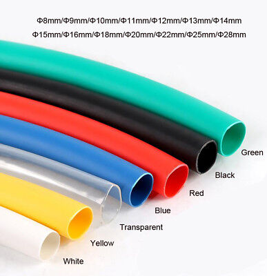 Dia.8/9/10/11/12/13/14/15 to 28mm Heat Shrinkable Tube Shrink Tubing Wire Sleeve