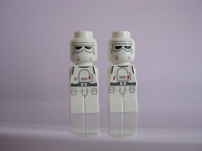 LEGO 2 x Micro Figur Minifig Battle of Hoth Snowtrooper   85863pb082  3866