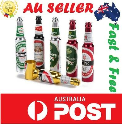 Mini Beer Bottle Tobacco Pipe Dry Herb Cone Collectable bong * AUSSIE SELLER *