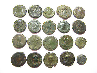 Lot of 20 Ancient Roman Nummus AE4 Bronze Coins