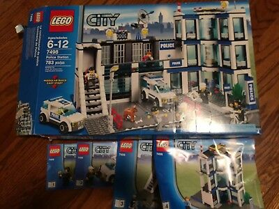 Lego City Set 7498 Police Station Complete Set With Box And