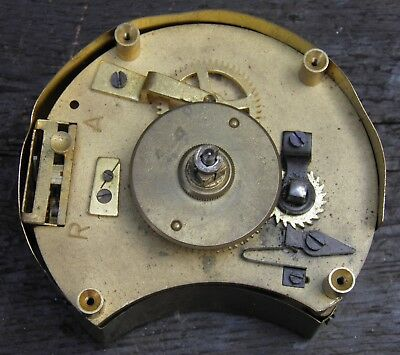 VINTAGE LARGE HEAVY WORKING SOLID BRASS CLOCK MOVEMENT a