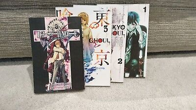 Tokyo Ghoul Collection Volume 1-3 Books Set By Sui Ishida PLUS death note 1