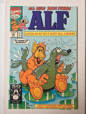 Alf #48 (1991)  VF/NM-  White Pages  Controversial Risqué Seal Assault Cover