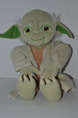 "Star Wars~Lucafilm Ltd &Tm~18"" Jedi Plush Yoda~Robe W/Hood~Star Wars Tush Tag~L7"