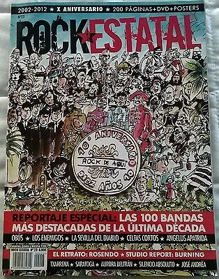 Revista Rock Estatal Nº23 + DVD - ESPECIAL X Aniversario 200 Paginas