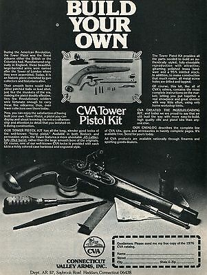 1977 PRINT AD of CVA Connecticut Valley Arms Tower Pistol Kit build your own
