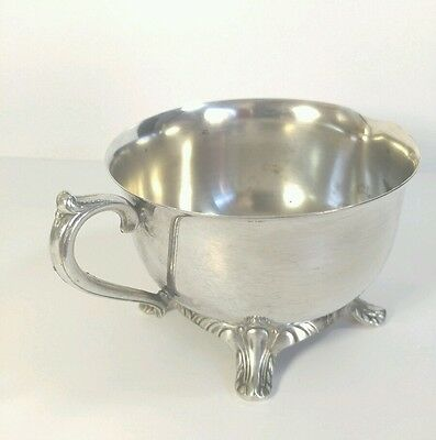Vintage Silver Plate Silverplate Footed Creamer