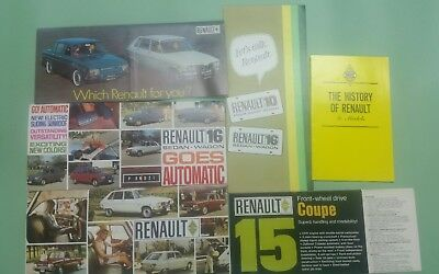 1960's/1970's lot of 6 Renault brochure/10/15/16