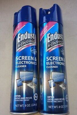 Endust Multi-Surface Anti-Static Electronics Cleaner 8oz Aerosol Lot Of 2 Cans