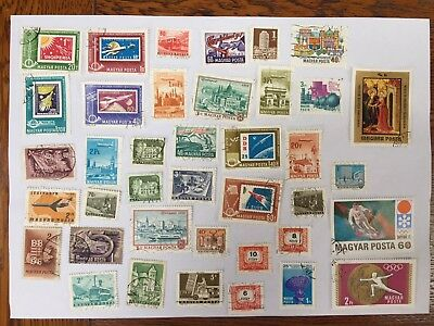 39 Hungary stamps vintage used - mostly 1970s or earlier - 2 olympic
