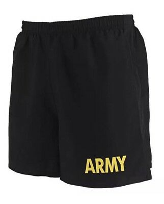 NEW Exercise PT Training Army Shorts Physical Fitness Med Large Black