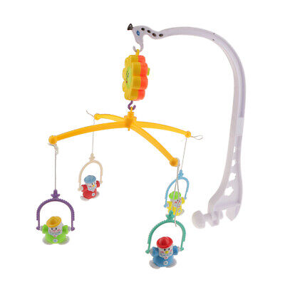 Infant Baby Crib Mobile Bed Bell Toy Holder Arm Bracket+Wind-up Music Box-C