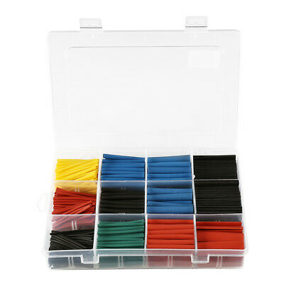 560Pc 2:1 Heat Shrink Tubing Tube Sleeve Kit Assortment Electrical Cable Wire