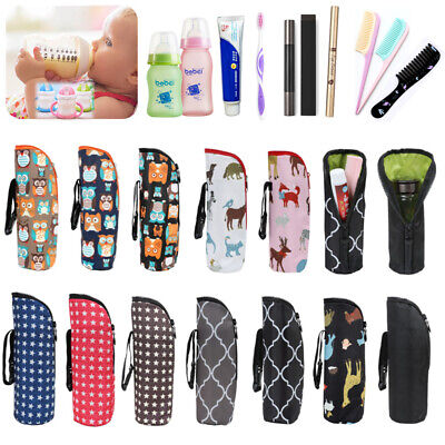 Baby Thermal Feeding Insulation Bottle Warmers Tote Bag Hang Stroller