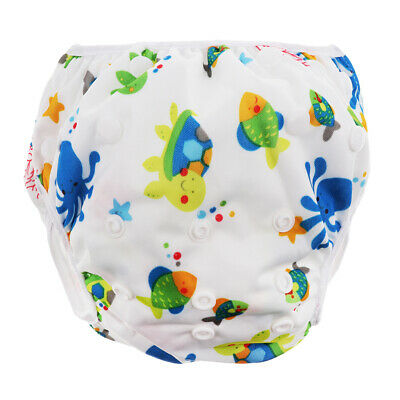 Reusable Baby Swim Diaper Adjustable Summer Mesh Cartoon Swimming Nappy Pants