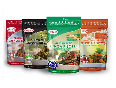 Morlife Quinoa Risotto 130g x 4 | Gluten Free Healthy Meal