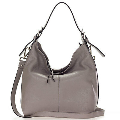 65222992533e Gianni Chiarini Italian Made in Italy Taupe Leather Medium Hobo Shoulder Bag