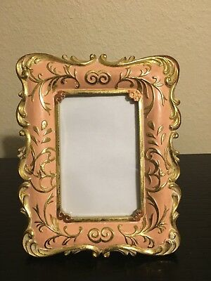 Concepts In Time Picture Frame Rose With Gold Colored Detail For