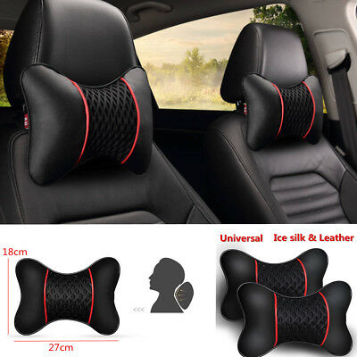 New Travel Leather Car Rest Cushion Seat Headrest Neck Pillow 2PCS Neck pillow